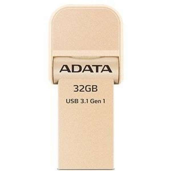 Adata i-Memory Flash Drive AI920, 32GB, Lightning / USB 3.1 Gen1, gold