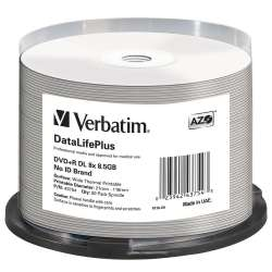 DVD+R DL Verbatim [ spindle 50 | 8,5GB | 8x | WIDE PRINTABLE SURFACE