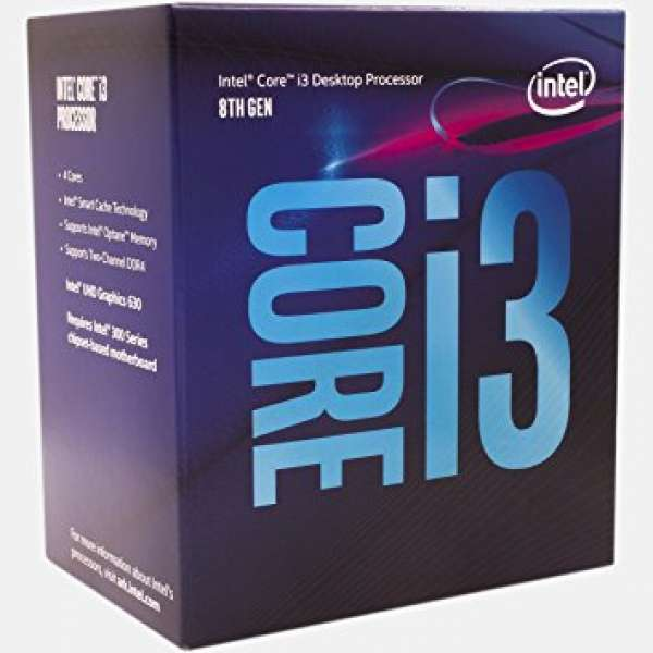 CPU INTEL skt. 1151  Core i3 Ci3-8100, 3.6GHz, 6MB