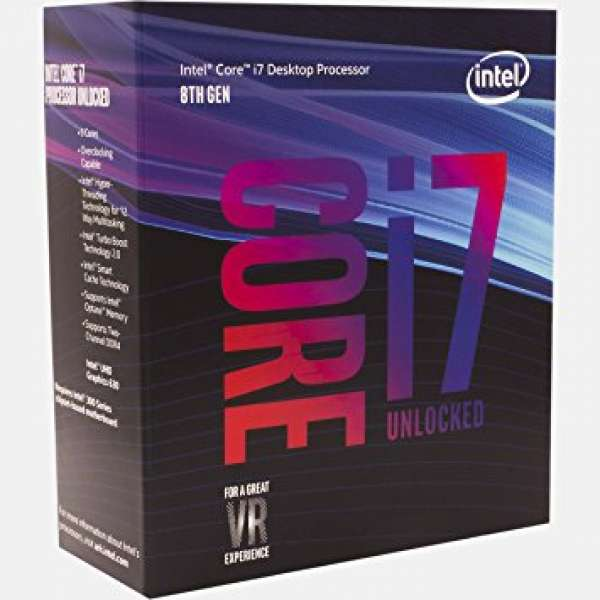 CPU INTEL skt. 1151  Core i7 Ci7-8700K, 3.7GHz, 12MB