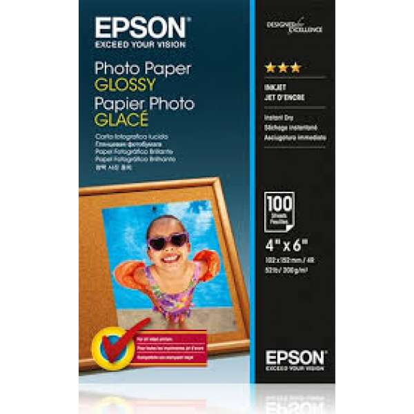 Paper Epson Photo Glossy [ 200g | 10x15cm | 100 sheets ]