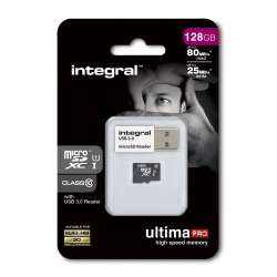Integral micro SDHC/XC Cards CL10 16GB - Ultima Pro - UHS-1 90 MB/s transfer