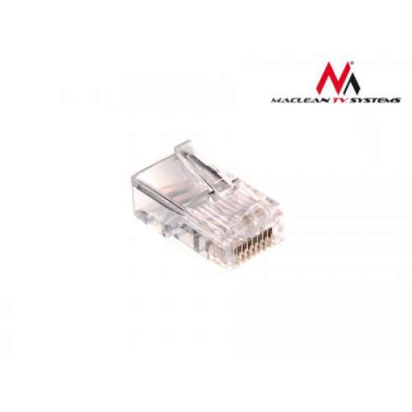 Maclean MCTV-662 100x RJ45 8P8C Crimp End Plug Connector for Ethernet Network
