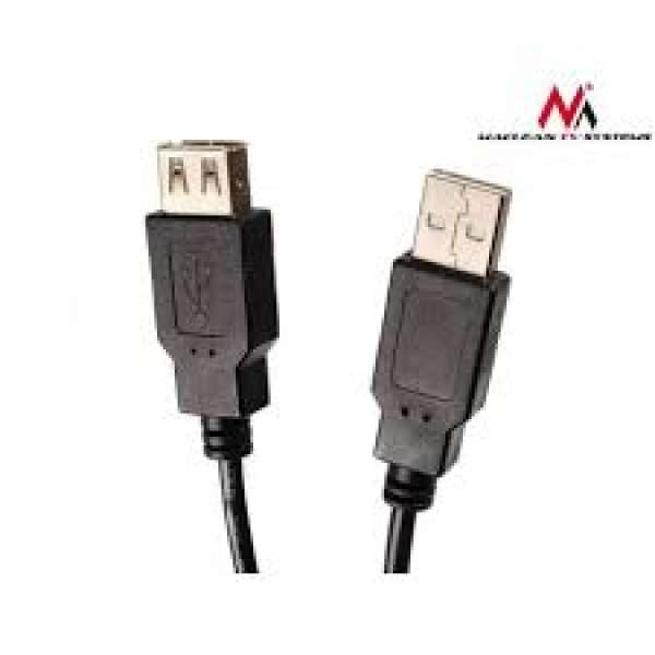 Maclean MCTV-744 USB 2.0 EXTENSION Cable Lead A Male Plug to A Female 3m