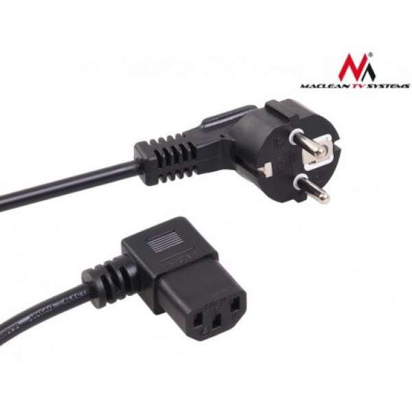 Maclean MCTV-804 Angled power cable 3 pin 5M plug EU
