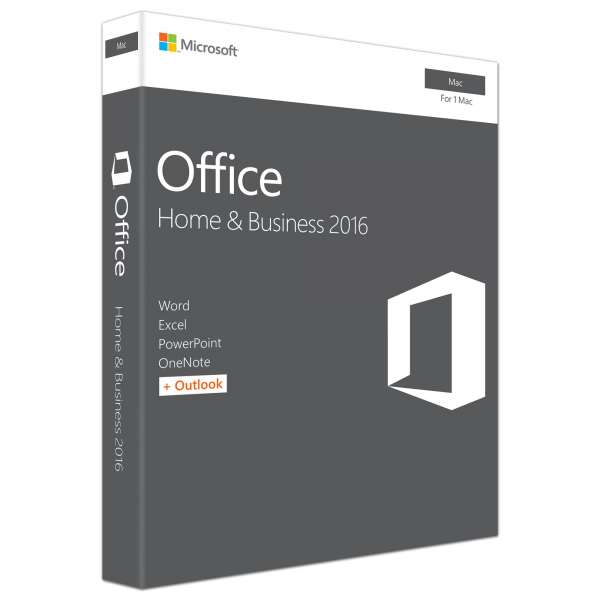 Microsoft Office Mac Home Business 2016 English Medialess P2