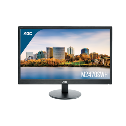 Monitor LED AOC M2470SWH 23.6 inch 5ms black