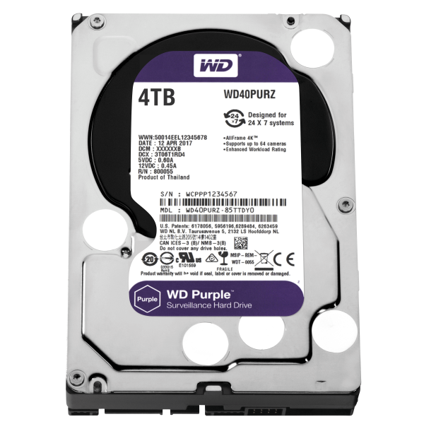 HDD 4TB PURPLE  64MB S-ATA3