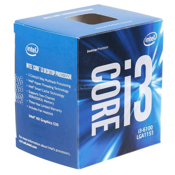 Intel Core i3-6100T, Dual Core, 3.20GHz, 3MB, LGA1151, 14mm, 35W, VGA, BOX