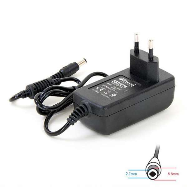 8level DC12V/2A power adapter 5x2.1mm