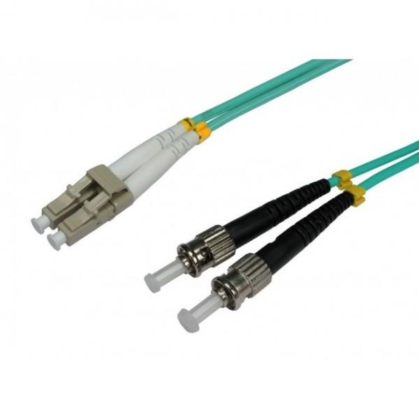 Intellinet Fiber optic patch cable ST-LC duplex 1m 50/125 OM3 multimode