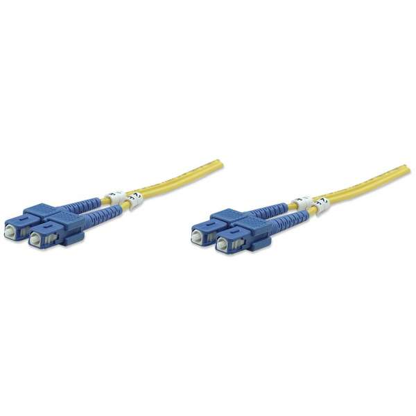 Intellinet Fiber optic patch cable SC-SC duplex 1m 9/125 OS2 singlemode