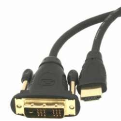 Gembird HDMI to DVI male-male cable with gold-plated connectors, 3m, bulk pack