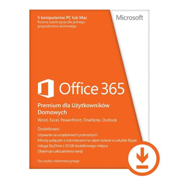Microsoft Office 365 Home Premium 32/64-bit All Languages Subscription ESD