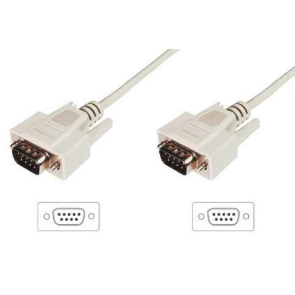 ASSMANN RS232 Connection Cable DSUB9 M (plug)/DSUB9 M (plug) 3m beige