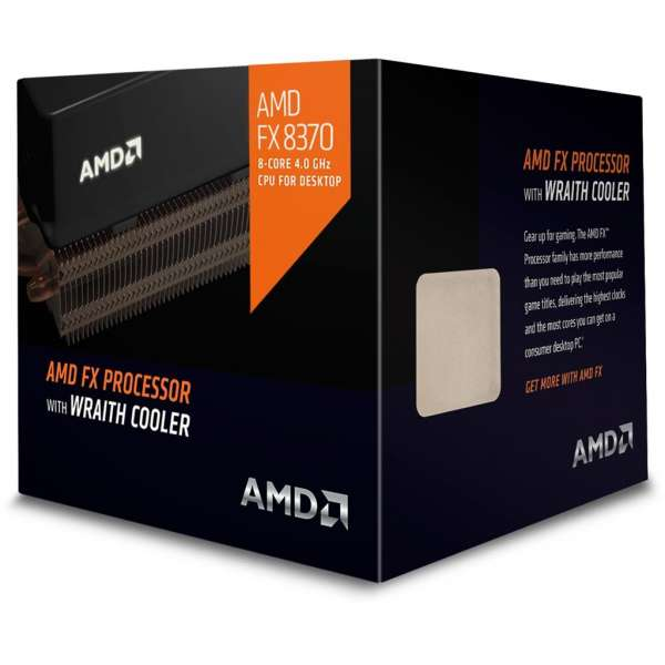AMD FX-8370, Octo Core, 4.00GHz, 8MB, AM3+, 32nm, 125W, BOX, Wraith