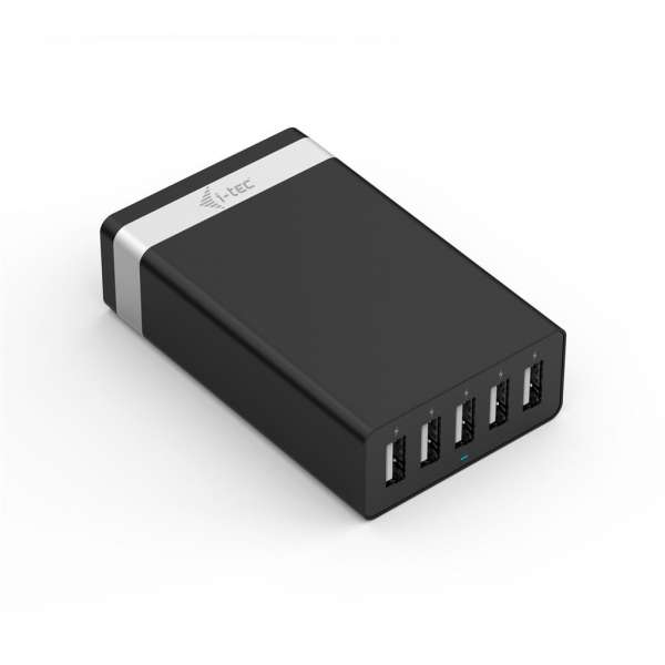 i-tec USB Smart Charger 5 Port 40W/8A for iPad/iPhone Samsung phones and tablets
