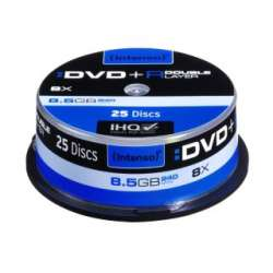 DVD+R DL DoubleLayer Intenso [ cutie 25 | 8,5GB | 8x ]