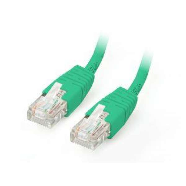 U/UTP Cat. 5E Patch cable 1m green