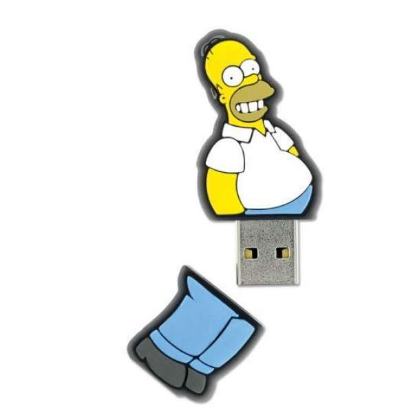 Integral Flashdrive The Simpsons, Homer, 8GB, rubberised silicone