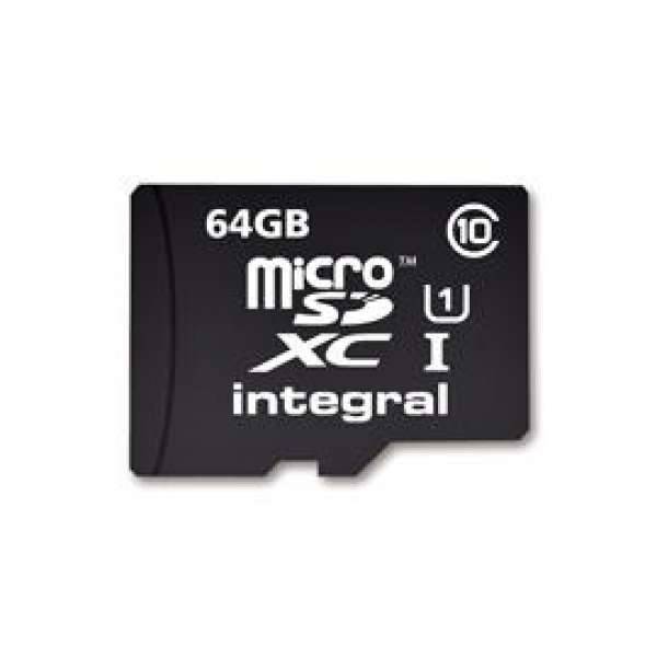 Integral micro SDHC/XC Cards CL10 64GB - Ultima Pro - UHS-1 90 MB/s transfer