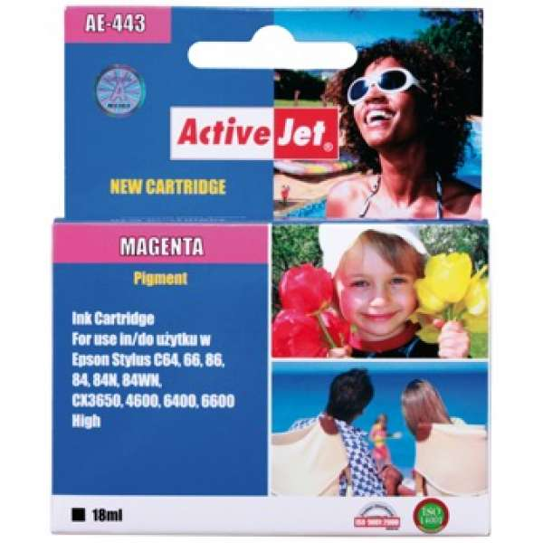Ink ActiveJet AE-443   Magenta   18 ml   Chip   Epson T0443