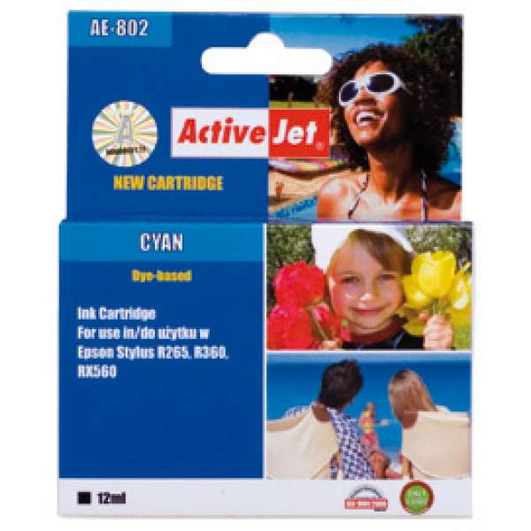 Ink ActiveJet AE-802 | Cyan | 13,5 ml | Chip | Epson T0802