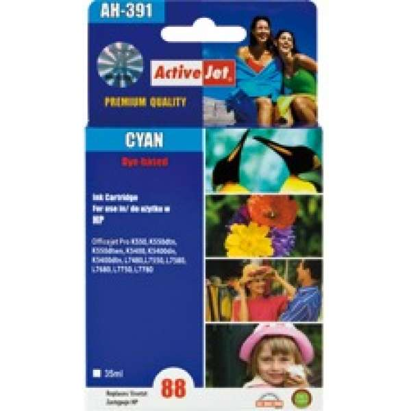 Ink ActiveJet AH-391 | Cyan | 35 ml | Refill | HP C9391AE
