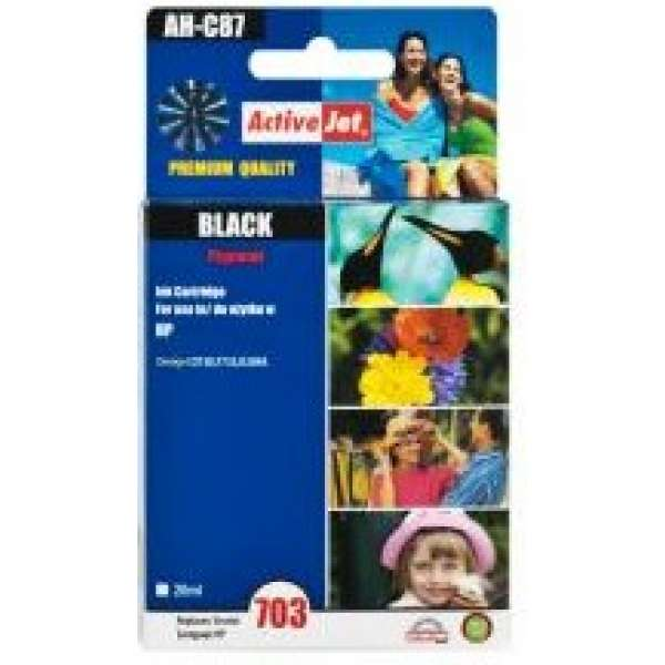Ink ActiveJet AH-C87 | Black | Refill | 20 ml | HP CD887AE