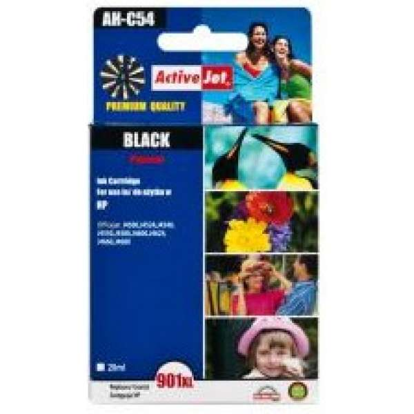 Ink ActiveJet AH-C54   Black   20 ml   Refill   HP CC654AE