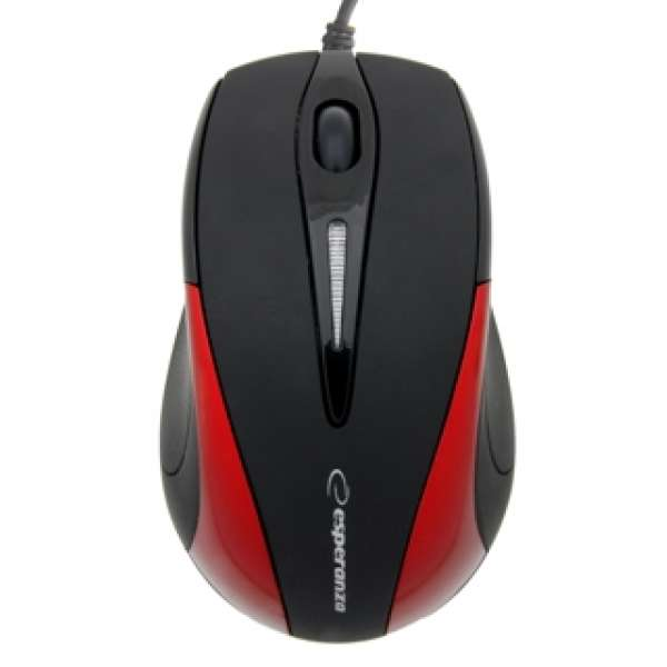 ESPERANZA Wired Mouse Optical EM102R USB | 800 DPI |Czerwona| BLISTER