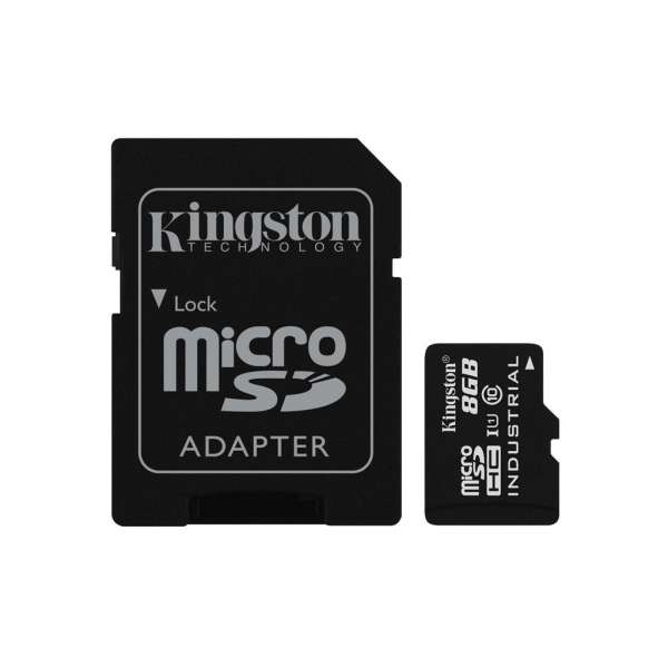 Kingston 8GB microSDHC UHS-I Class 10 Industrial Temp Card + SD Adapter