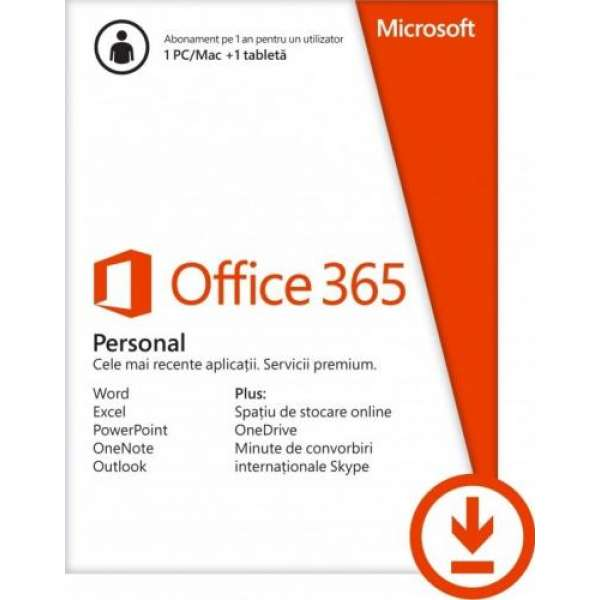 Microsoft Office 365 Personal, 1 Year Subscription - ESD