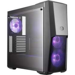 CARCASA COOLER MASTER MasterBox MB500, tempered glass, mid-tower, ATX,  3* 120mm RGB fan (incluse)
