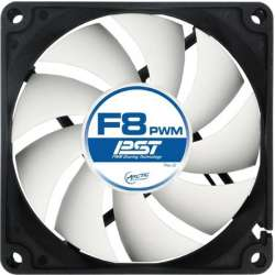 "FAN FOR CASE ARCTIC   ""F8 PWM PST"" 80x80x25 mm, w/ PWM & cablu PST, low"