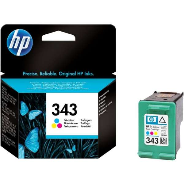 Cartus cerneala Original HP Tri-color 343, compatibil DJ460C/57xx/65xx/PSC1510/1600/2xxx, 7ml, 260