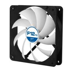 "FAN FOR CASE ARCTIC ""F12 TC"" 120x120x25 mm, senzor temperatura, low noise FD bea"