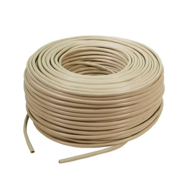 Cablu FTP cat. 5e, 4x2 AWG 24/1, din PVC, solid, lungime rola: 305m, retail, Bej, LOGILINK (CPV003