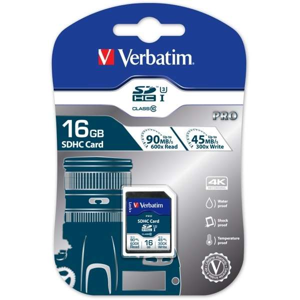 SECURE DIGITAL CARD SDHC 16GB (Class 10) PRO UHS-I Verbatim (47020)