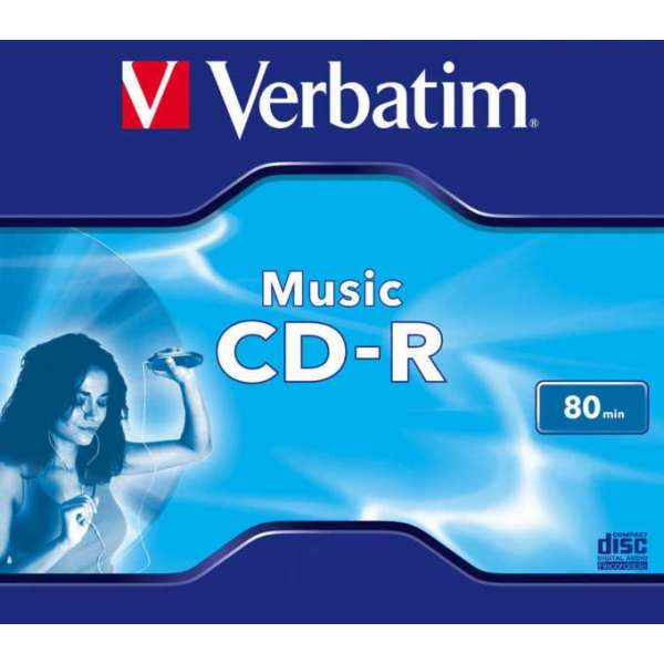CD-R Verbatim MUSIC 80MIN JC (43365)