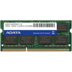 SODIMM LOW VOLTAGE ADATA  DDR3/1600 8192M  (ADDS1600W8G11-B)