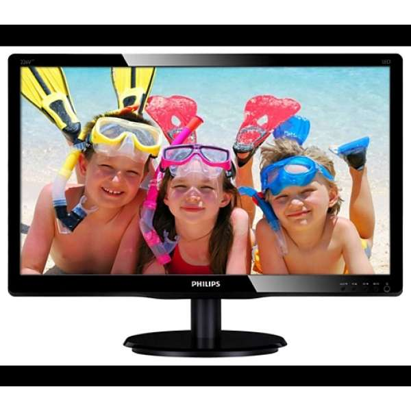 "MONITOR PHILIPS 21.5"" LED, 1920x1080, 5ms, 250cd/mp, vga+dvi-d (226V4LAB/00)"