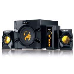 "BOXE 2.1 GENIUS .""SW-G2.1 3000"", RMS: 15Wx2 + 40Wx1, yellow & black, con"