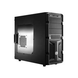 CARCASA COOLER MASTER  K350, mid-tower, ATX, 1* 120mm fan (inclus), I/O panel, side window, black