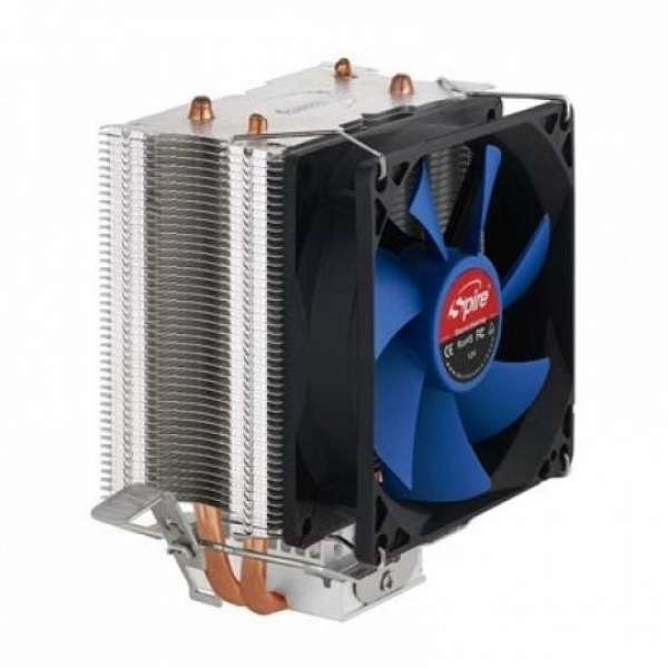 COOLER SPIRE CPU, universal, soc  LGA1156/1155/775 & AM2/AM3/FM1, fan 90x25mm, 2x heatpipe