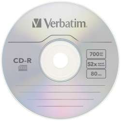 CD-R 700 Mb Verbatim Azo Crystal 52x